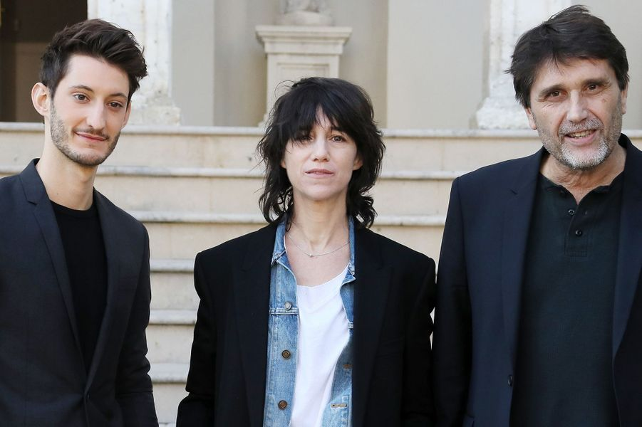 Charlotte Gainsbourg et Pierre Niney à Sarlat, le 14 novembre 2017.
