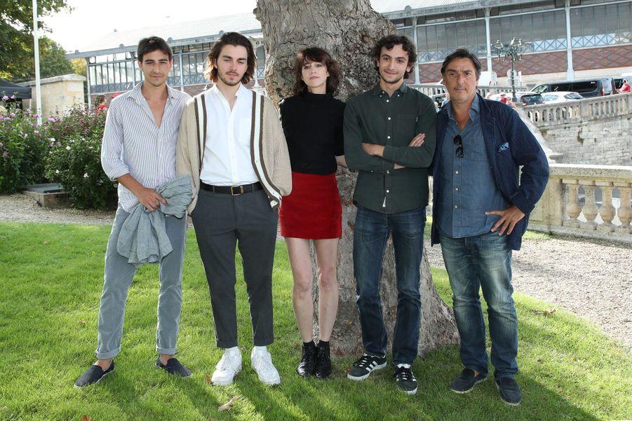 Ben Attal, Panayotis Pascot, Charlotte Gainsbourg, Pablo Venzal et Yvan Attalau Festival du film francophone d'Angoulême le 20 août 2019