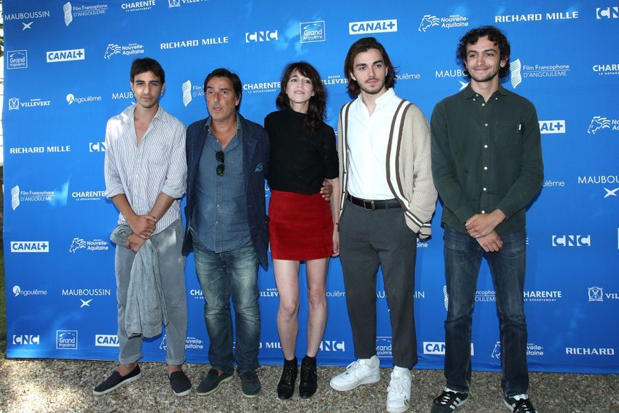 Ben Attal, Yvan Attal, Charlotte Gainsbourg, Panayotis Pascot et Pablo Venzalau Festival du film francophone d'Angoulême le 20 août 2019