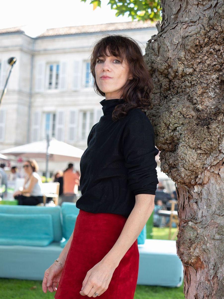 Charlotte Gainsbourg au Festival du film francophone d'Angoulême le 20 août 2019