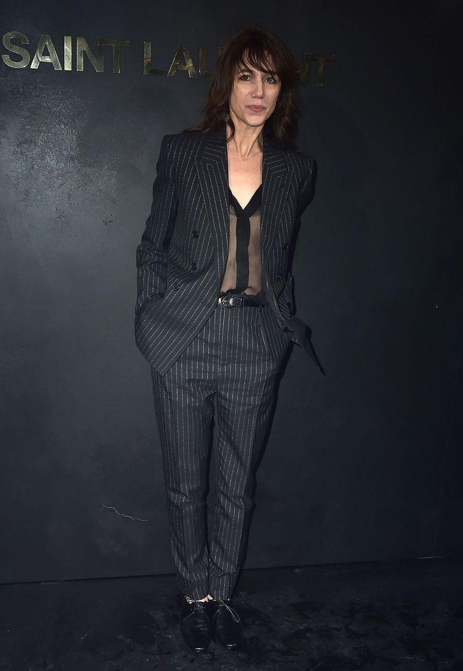 Charlotte Gainsbourg au défilé Saint Laurent