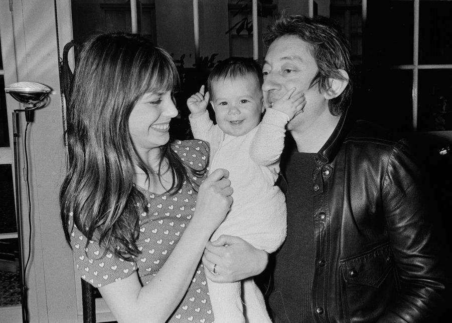 Charlotte Gainsbourg et ses parents.