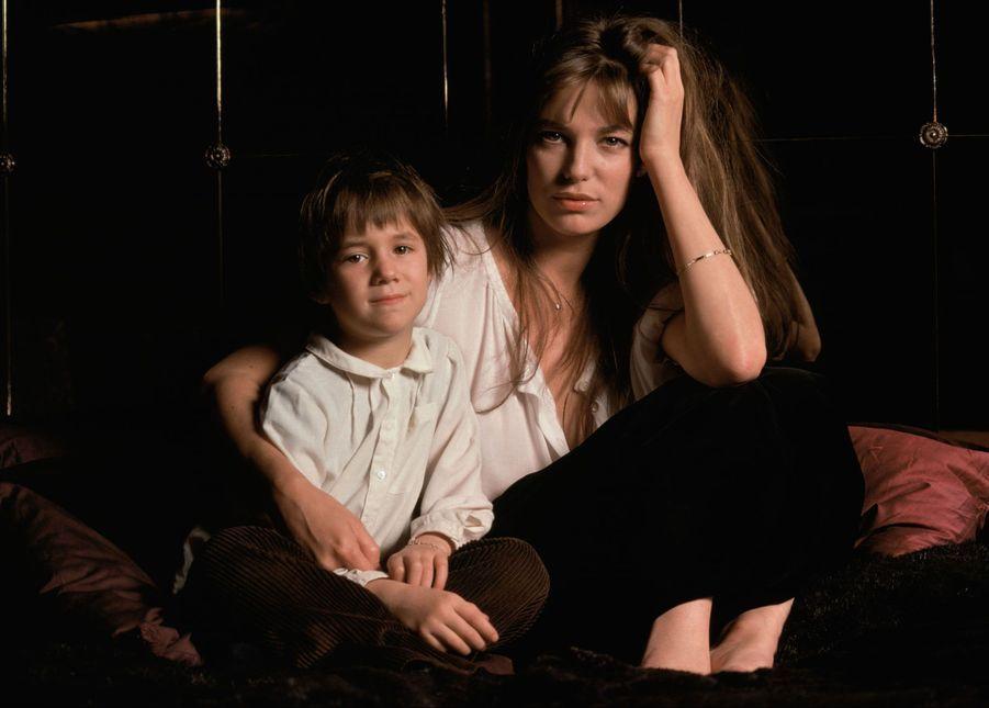 Jane Birkin et sa fille.