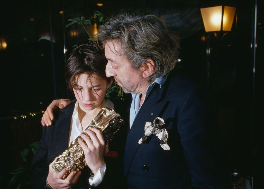 Charlotte et son père au Fouquets.