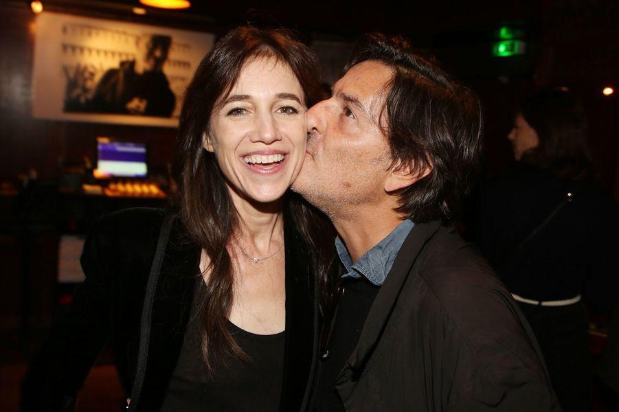 Charlotte Gainsbourg et Yvan Attalà l'after-party du film «Mon chien stupide» au Buddha Bar à Paris le 22 octobre 2019