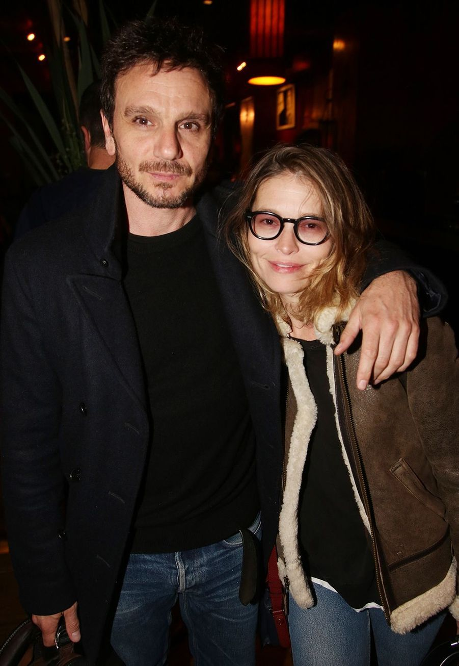 Dimitri Storoge et Virginie De Clausade à l'after-party du film «Mon chien stupide» au Buddha Bar à Paris le 22 octobre 2019