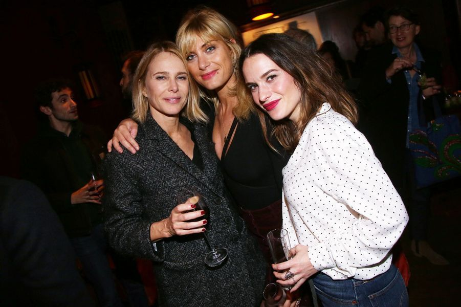 Pascale Arbillot, Mathilde Bisson et Claire Morin à l'after-party du film «Mon chien stupide» au Buddha Bar à Paris le 22 octobre 2019