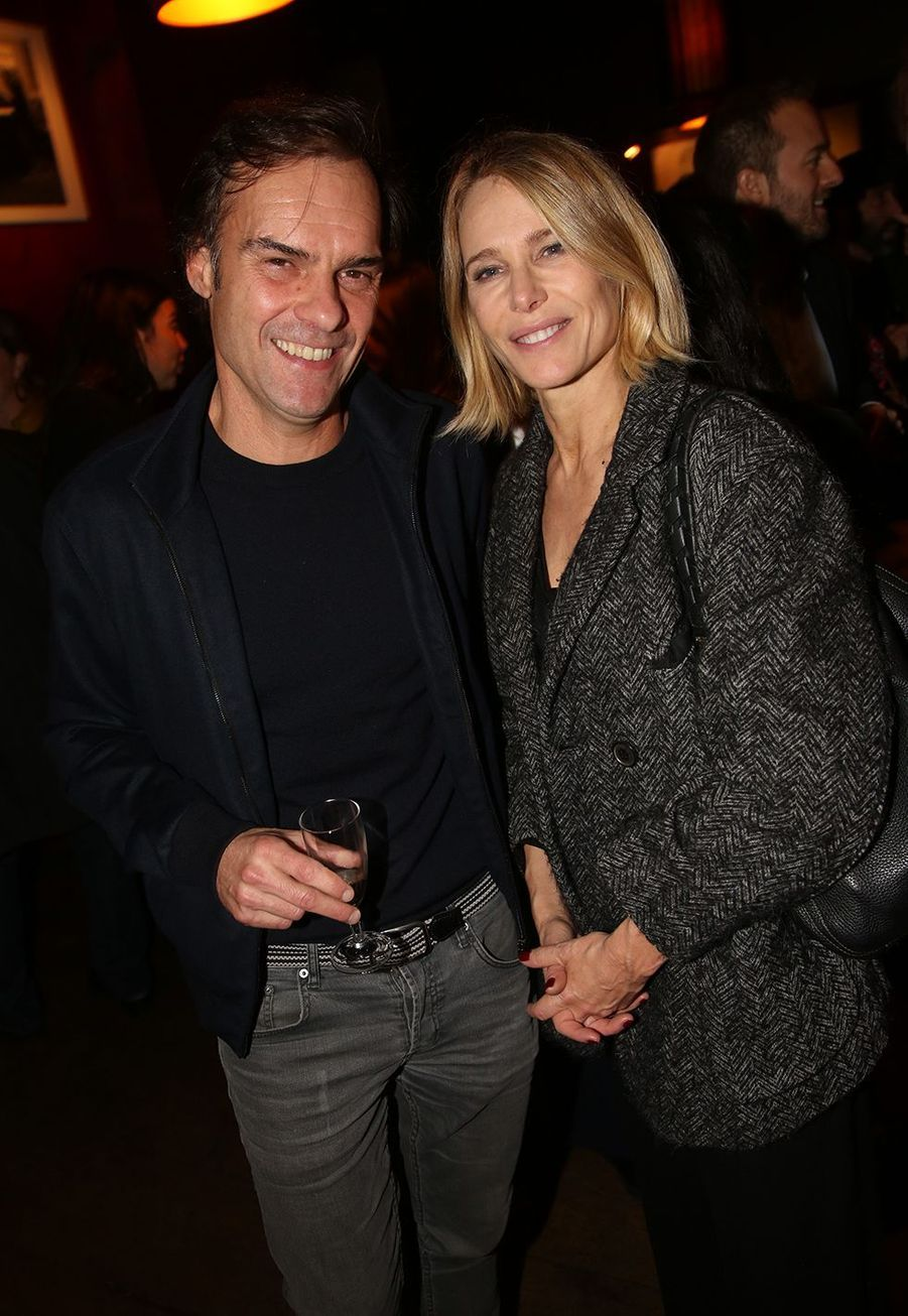 Sébastien Thiery et Pascale Arbillot à l'after-party du film «Mon chien stupide» au Buddha Bar à Paris le 22 octobre 2019