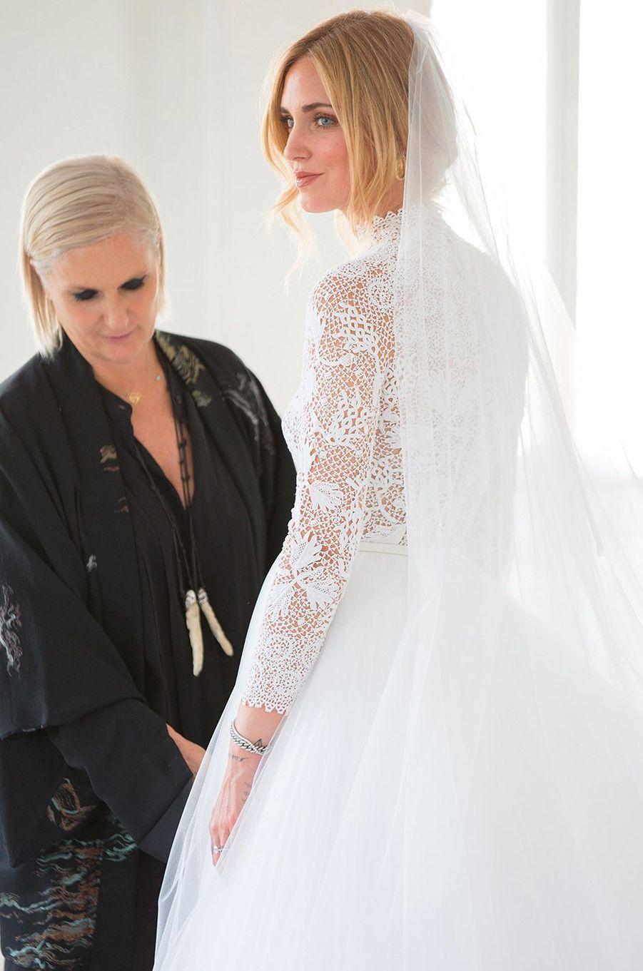 Les essayages de robe de mariée de Chiara Ferragni avec Maria Grazia Chiuri