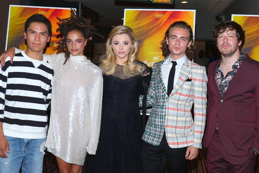 """Chloë Grace Moretz et l'équipe du film à la première de """"Come as you are"""" à New York le 1er août 2018"""