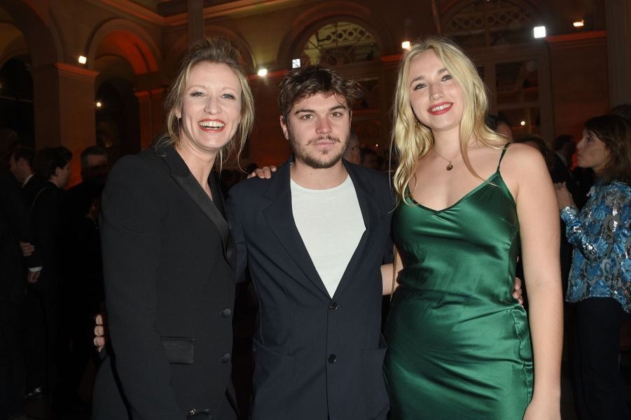 Alexandra Lamy, Zacharie Chasseriaud et Chloé Jouannet à la 26ème édition des Trophées du Film Français 2018 au Palais Brongniart à Paris le 5 février 2019