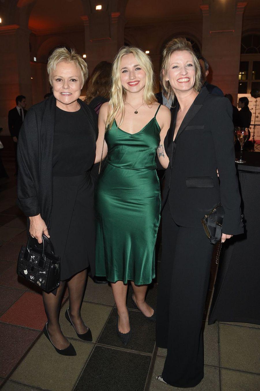 Muriel Robin, Chloé Jouannet etAlexandra Lamyà la26ème édition des Trophées du Film Français 2018 au Palais Brongniart à Paris le 5 février 2019