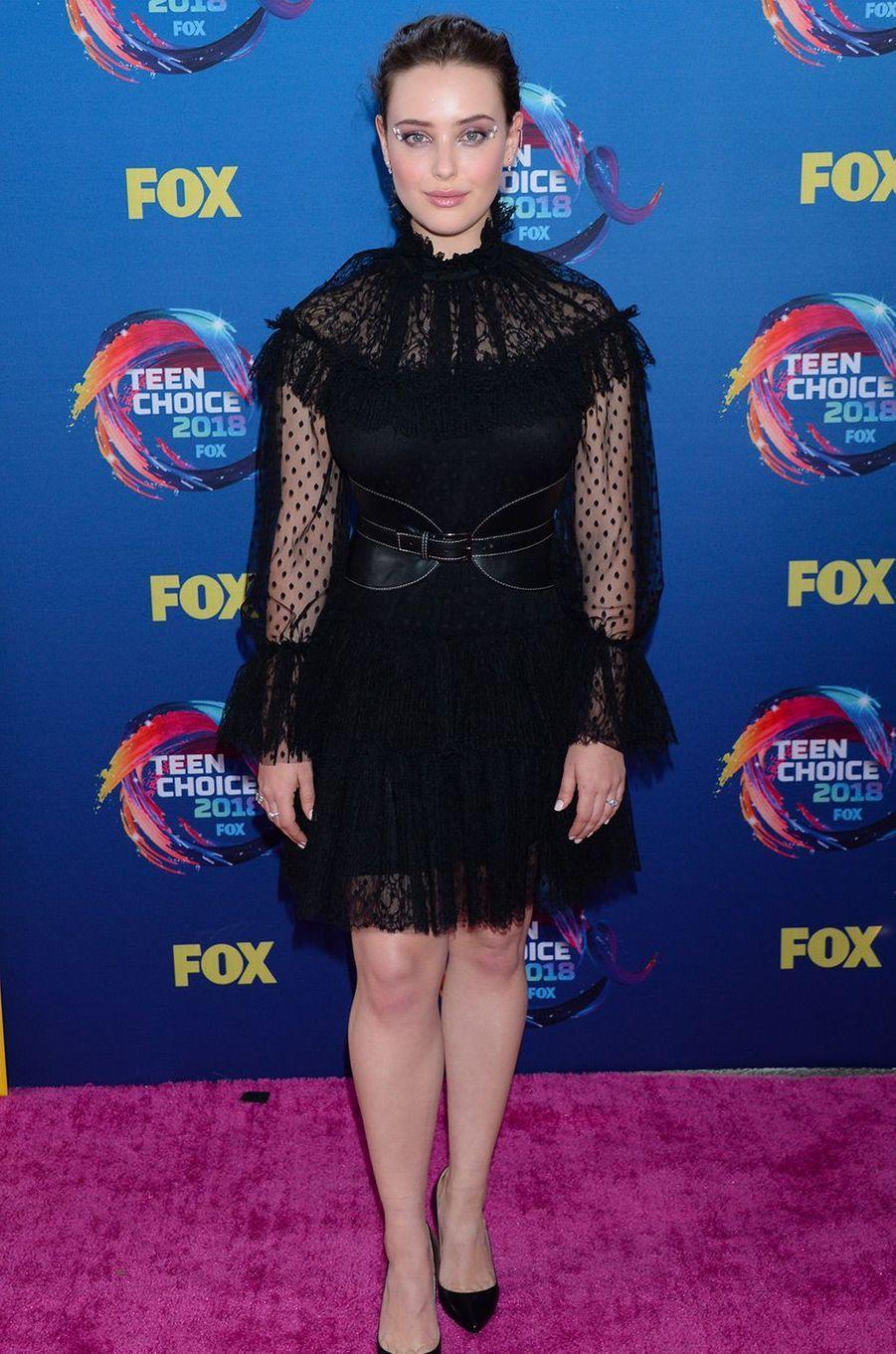 Katerine Langford aux Teen Choice Awards, à Los Angeles, dimanche 12 août