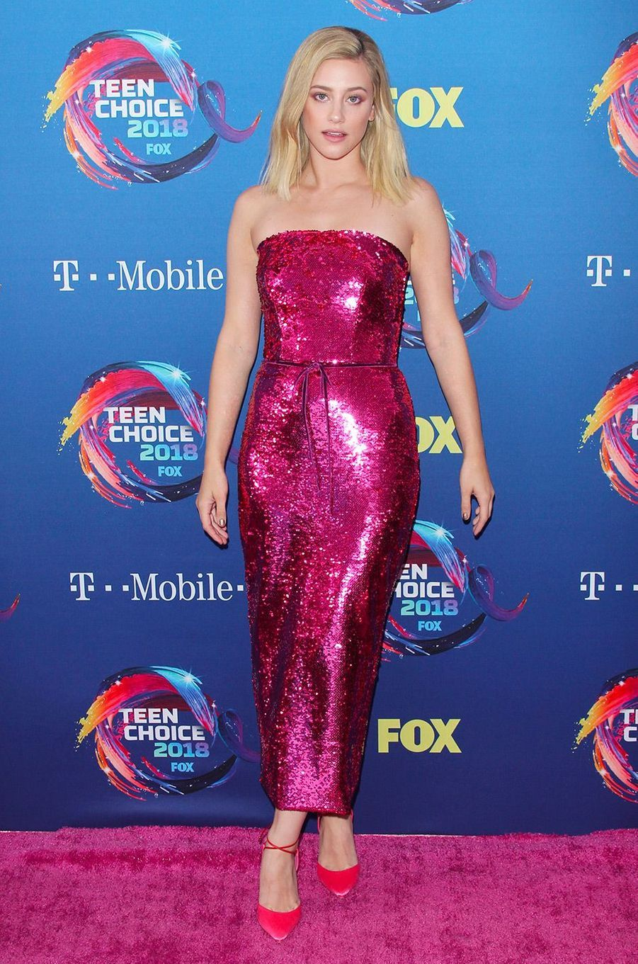 Lili Reinhart aux Teen Choice Awards, à Los Angeles, dimanche 12 août