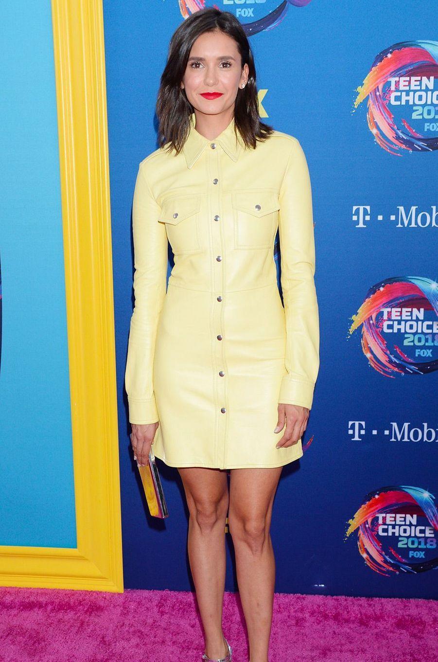 Nina Dobrevaux Teen Choice Awards, à Los Angeles, dimanche 12 août