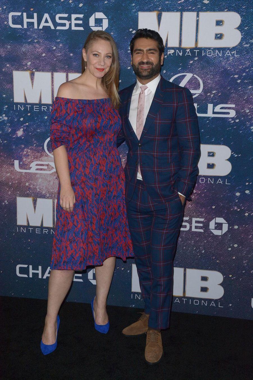Kumail Nanjiani et sa femme Emily V. Gordonà New York, le 11 juin 2019