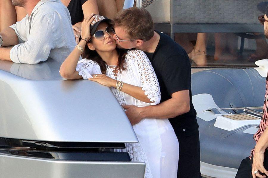 Luciana Barroso et Matt Damon à Ibiza le 14 juillet 2019