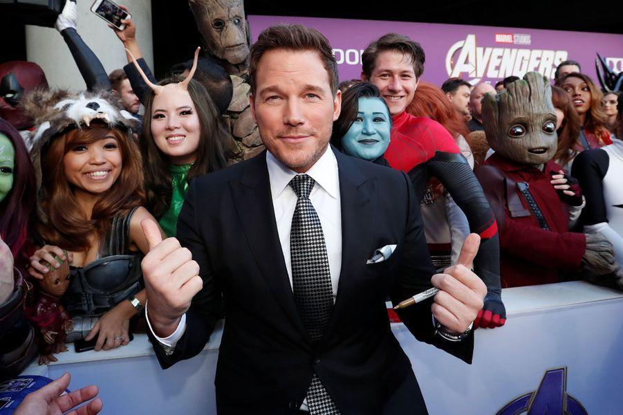 Chris Pratt à l'avant-première d'«Avengers : Endgame» à Los Angeles le 22 avril 2019