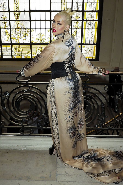 Christina Aguilera au défilé Jean Paul Gaultier à Paris le 3 juillet 2019