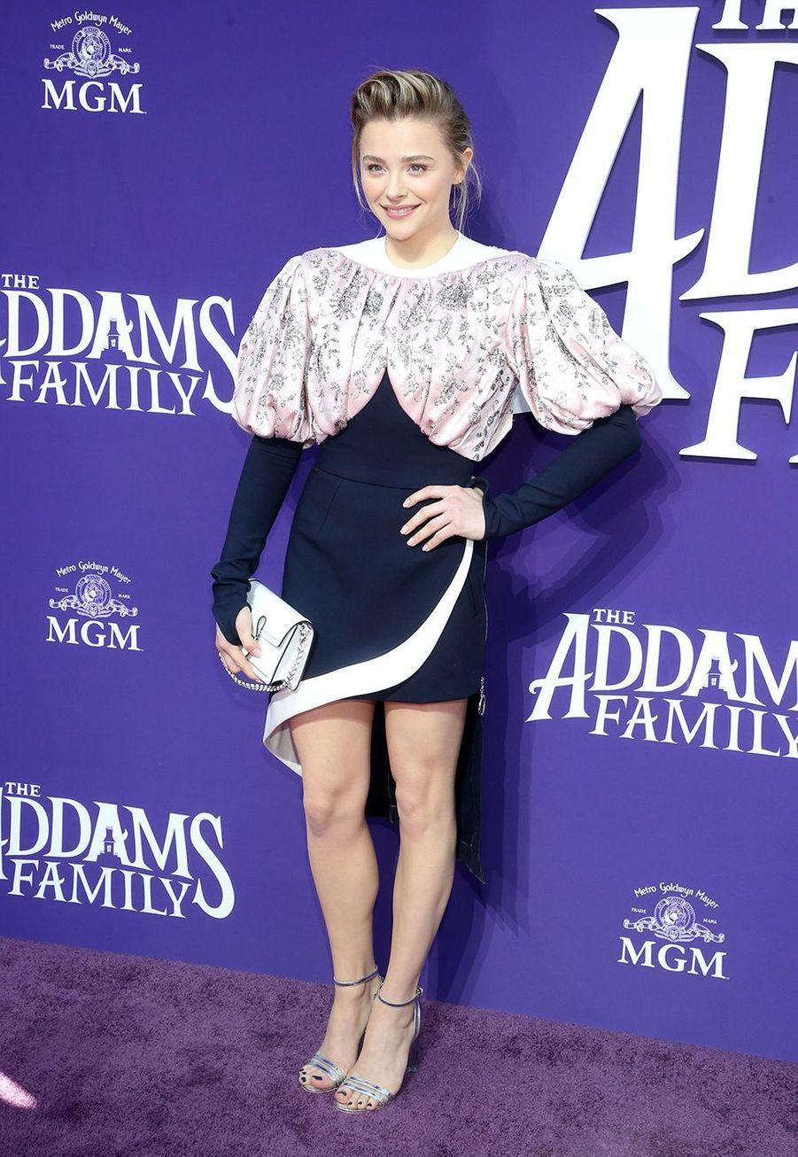 Chloë Grace Moretz lors de la première de «La Famille Addams» le 6 octobre 2019 à Los Angeles.