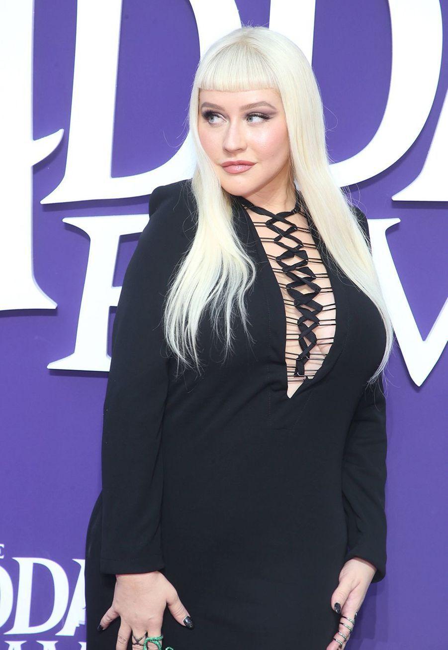 Christina Aguilera lors de la première de «La Famille Addams» le 6 octobre 2019 à Los Angeles.