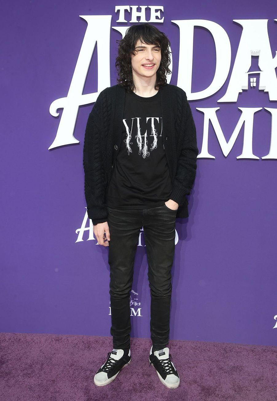 Finn Wolfhard lors de la première de «La Famille Addams» le 6 octobre 2019 à Los Angeles.