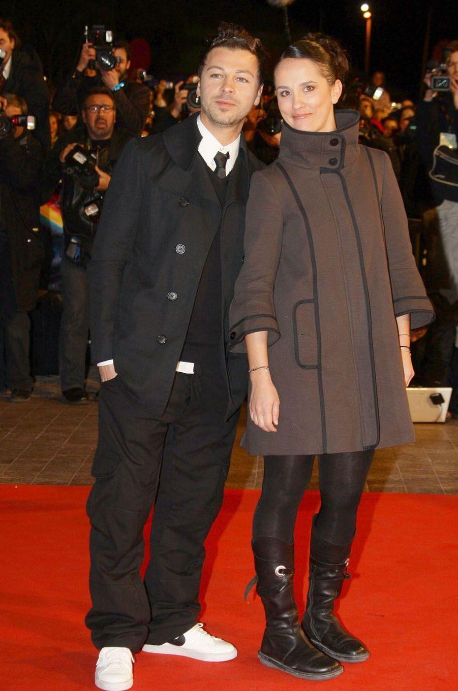 Christophe Maé et Nadège aux NRJ Music Awards au Midem de Cannes, en 2009.