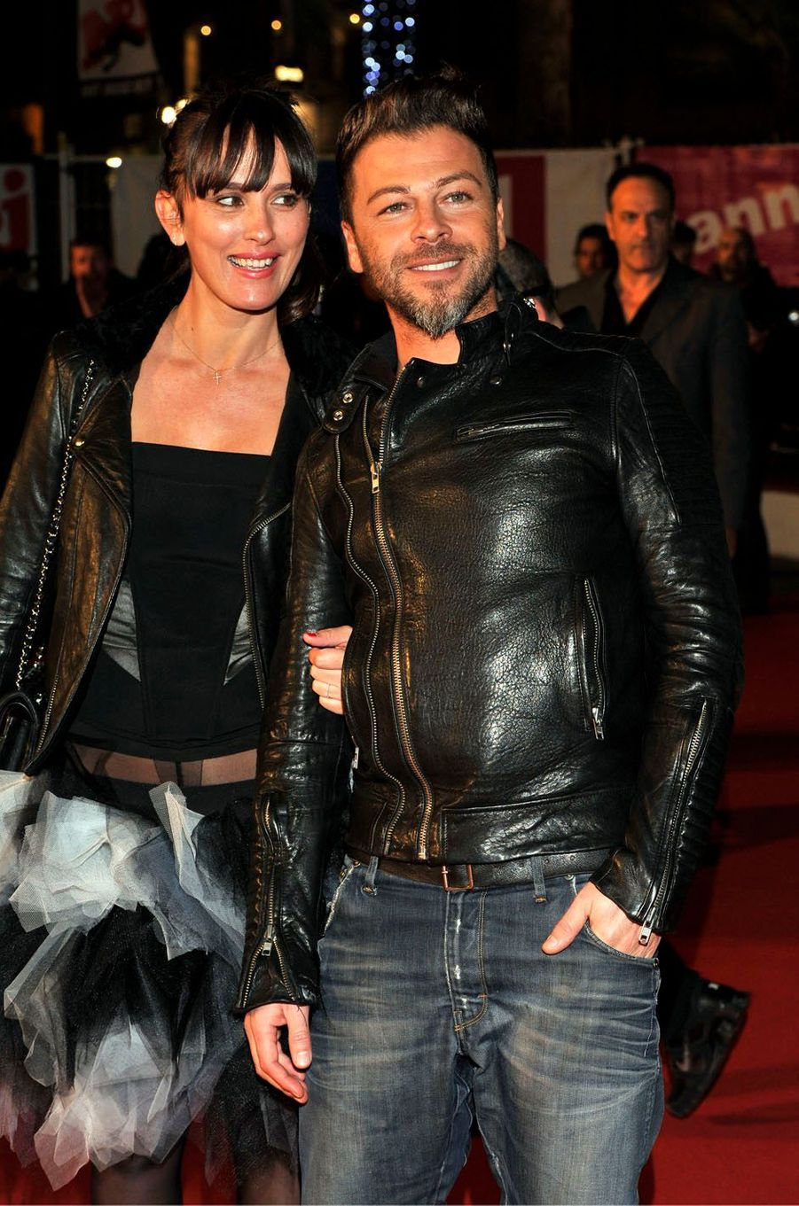 Christophe Maé et sa femme aux NRJ Music Awards, en 2013.