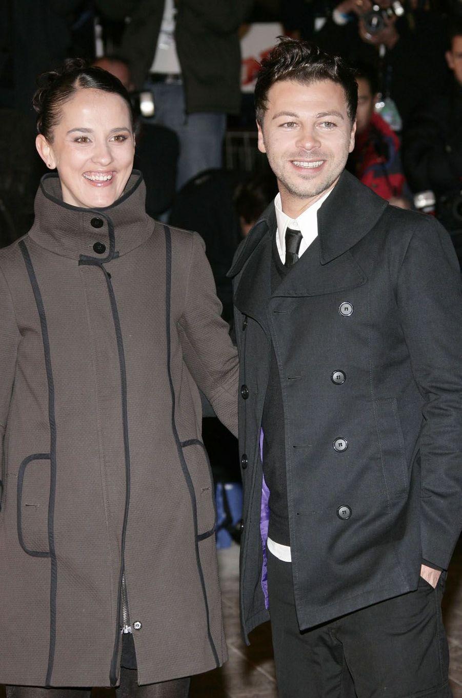 Christophe Maé et sa femme aux NRJ Music Awards, en 2009.