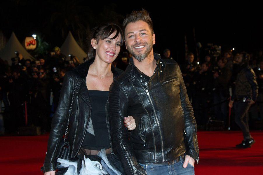 Christophe Maé et sa femme aux NRJ Music Awards à Cannes, en 2014.