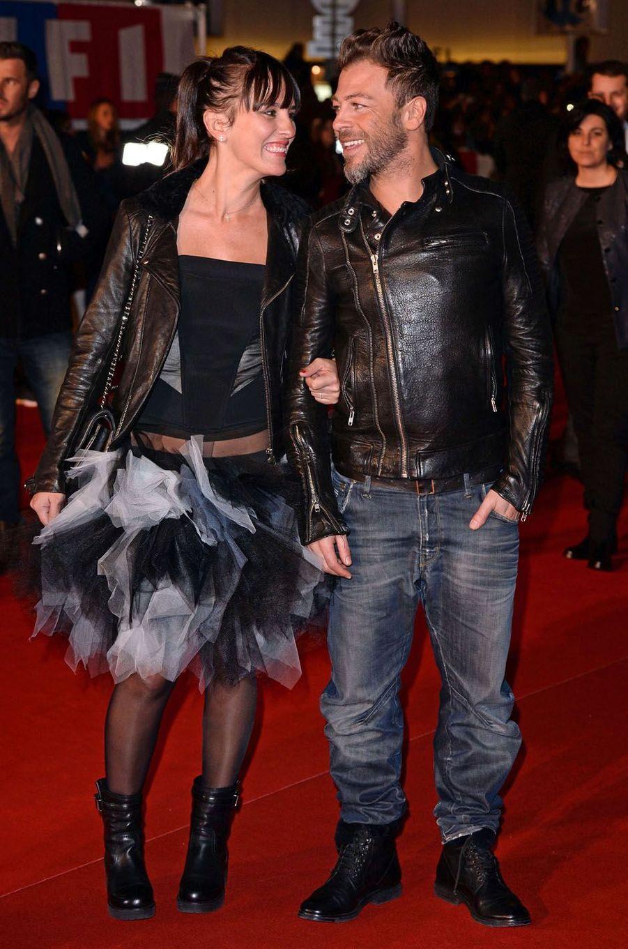 Christophe Maé et sa femme aux NRJ Music Awards au Midem de Cannes, en 2013.