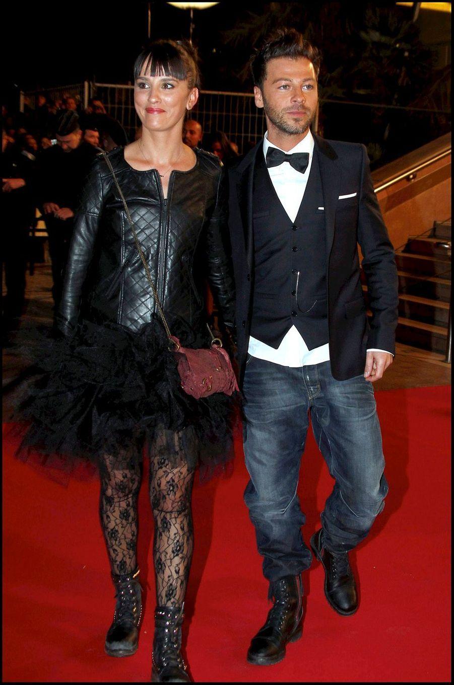Christophe Maé et sa femme aux NRJ Music Awards, à Cannes en janvier 2011.
