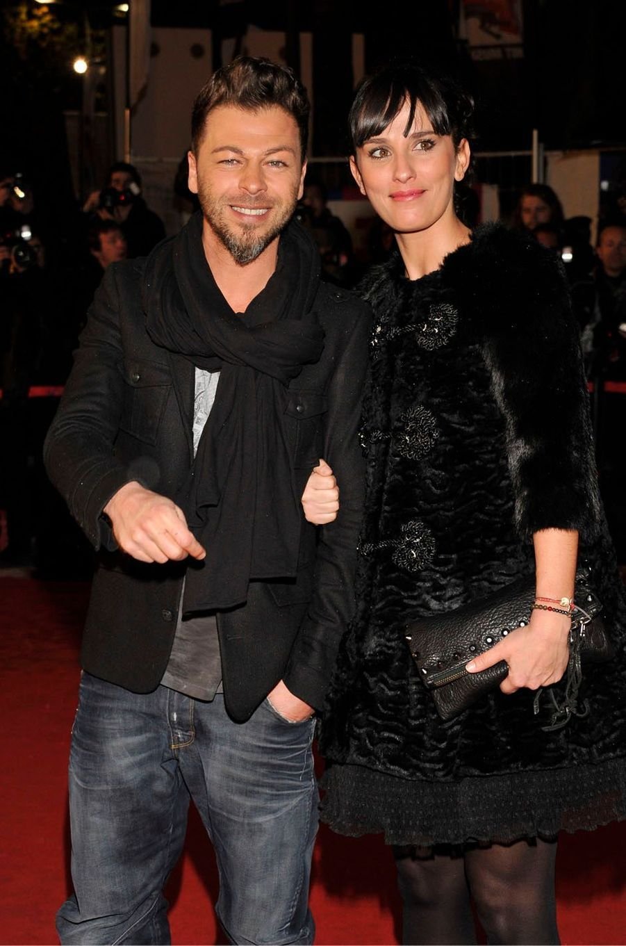 Christophe Maé et sa femme aux NRJ Music Awards, à Cannes en 2012.
