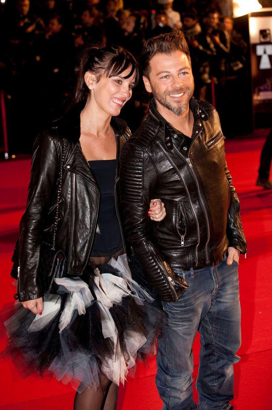 Christophe Maé et Nadège aux NRJ Music Awards, à Cannes en 2013.