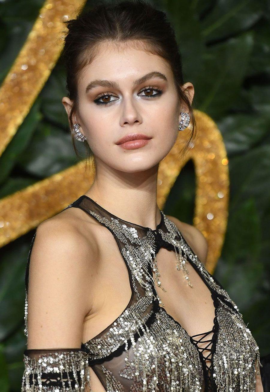 Kaia Gerber auxBritish Fashion Awards 2018, à Londres lundi