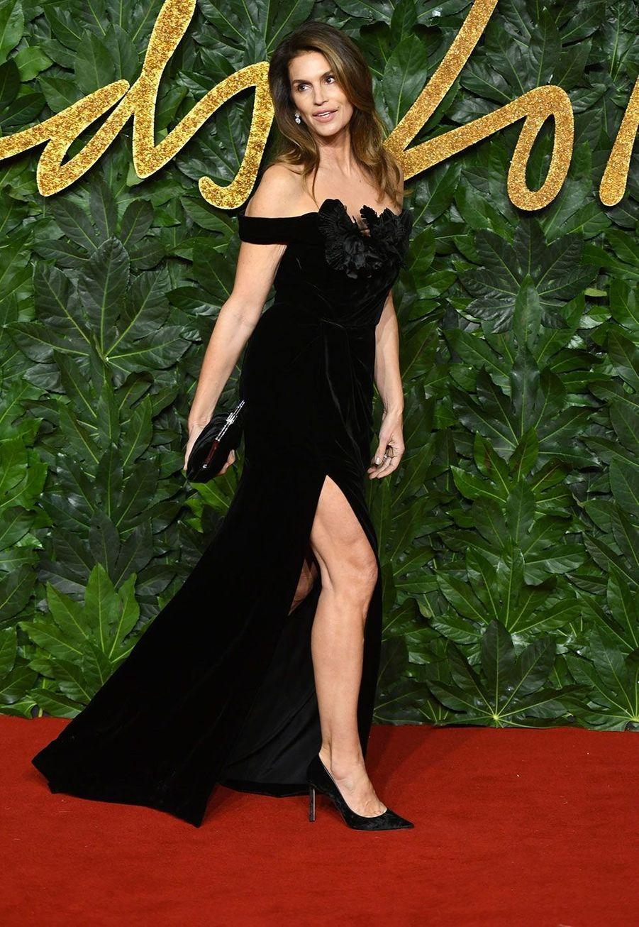 Cindy Crawford auxBritish Fashion Awards 2018, à Londres lundi