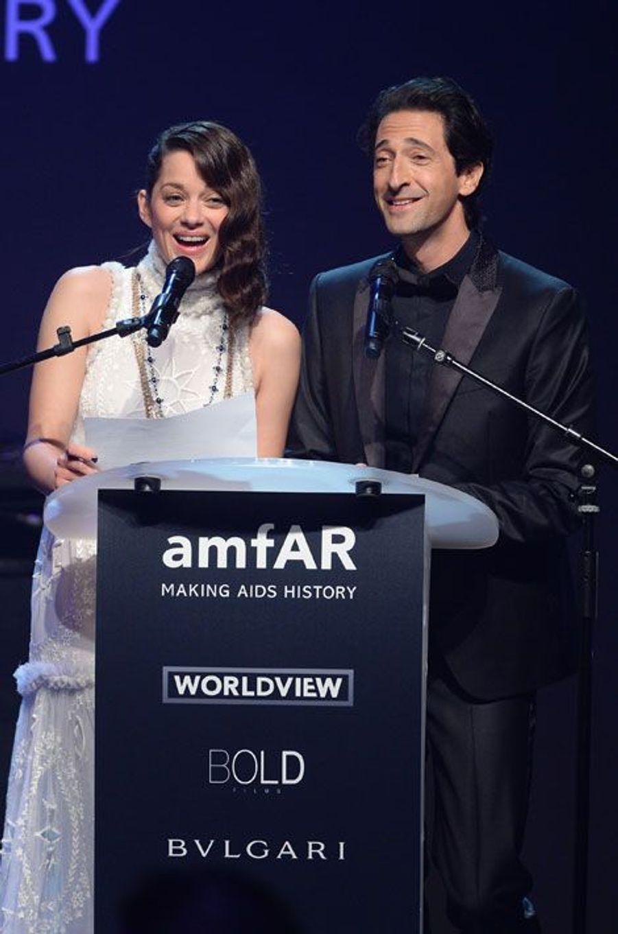 Marion Cotillard et Adrien Brody