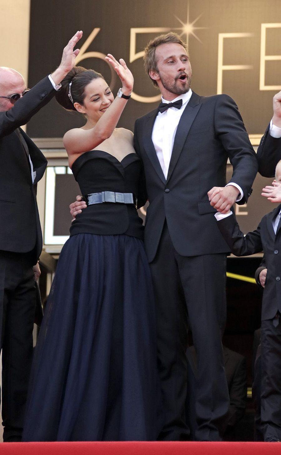 Marion Cotillard avec Matthias Schoenarts, au Festival de Cannes en mai 2012