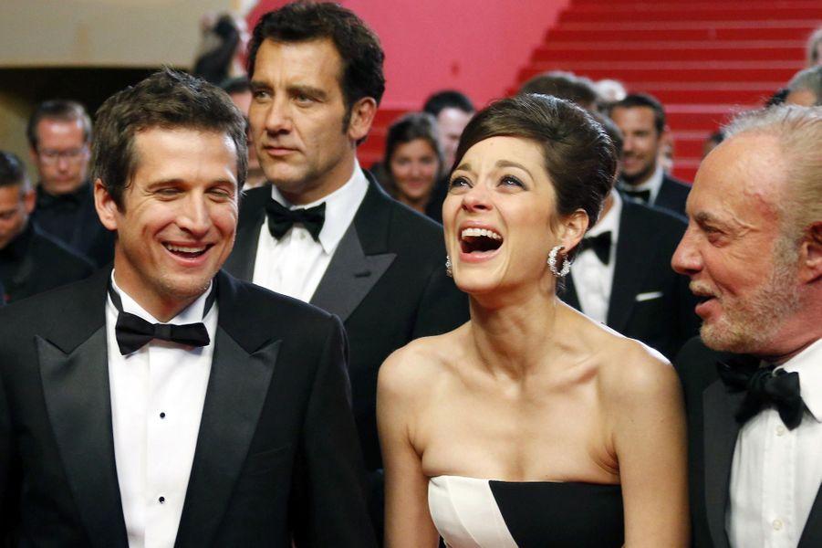 Marion Cotillard avec son époux Guillaume Canet, au Festival de Cannes en mai 2013