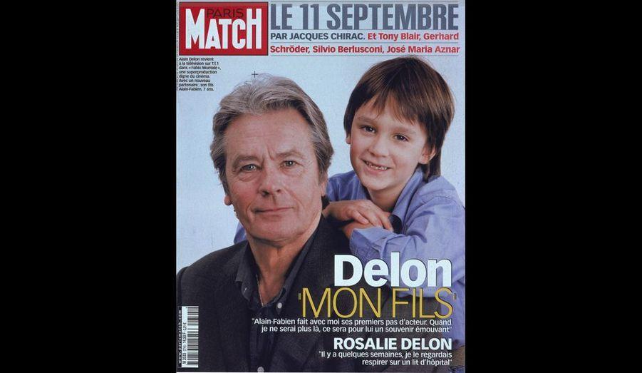 2002. C'est le retour de l'acteur dans une superproduction télévisée, avec un nouveau partenaire... son fils, Alain-Fabien, âgé de 7 ans.