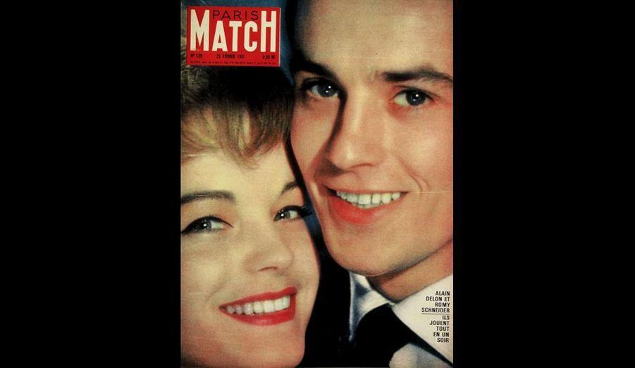 1961. Les deux amoureux réunis pour la première fois sur les planches, par Visconti dans «Dommage qu'elle soit une putain».