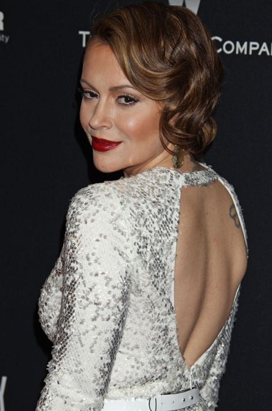 Alyssa Milano à Los Angeles, le 12 janvier 2014.