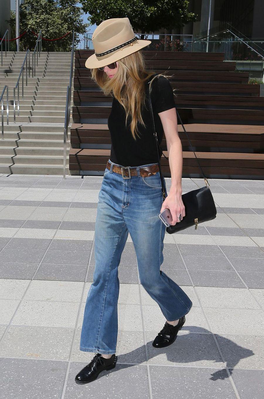 Amber Heard plus maigre que jamais, dans les rues de Los Angeles, le 16 juin 2016.