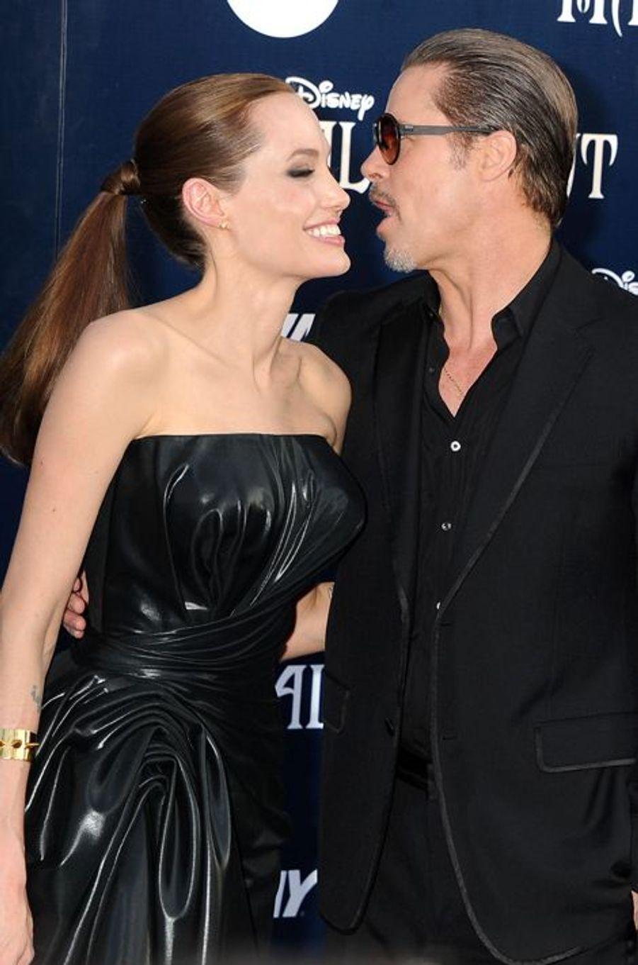 Angelina Jolie et Brad Pitt à Los Angeles le 28 mai 2014.