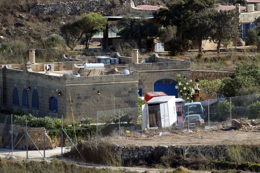 Le lieu de tournage à Malte du film «By the sea» d'Angelina Jolie, le 1er septembre 2014.