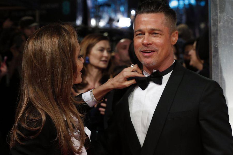 Angelina Jolie et Brad Pitt à la cérémonie des BAFTA 2014.
