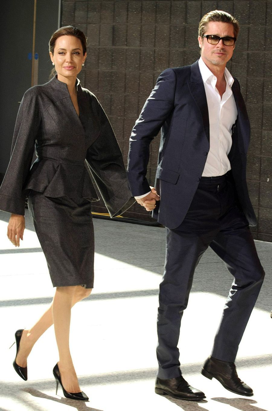 Angelina Jolie et Brad Pitt à Londres en 2014.