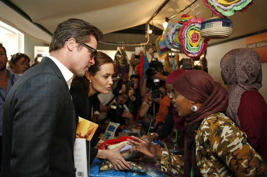 Angelina Jolie et Brad Pitt à Londres en juin 2014.