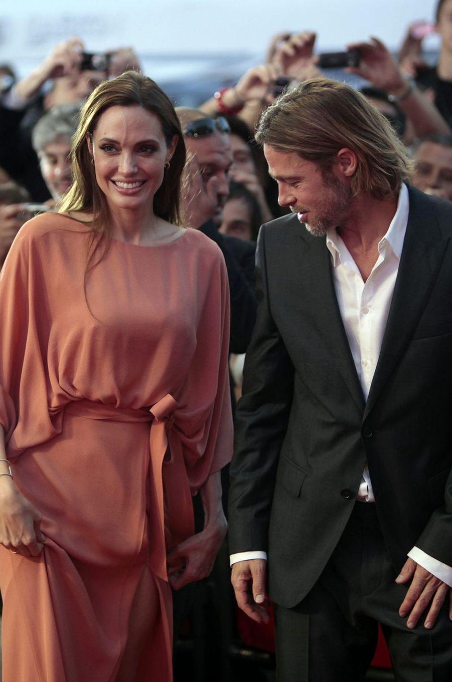 Angelina Jolie et Brad Pitt à Sarajevo en 2011.