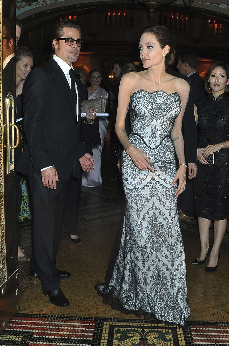 Angelina Jolie et Brad Pitt à Sydney en novembre 2014.